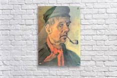 Head of a farmer with a clay pipe by Van Gogh  Acrylic Print