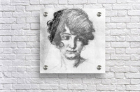 Head of the daughter of the artist, Lorli  by Albin Egger-Lienz  Acrylic Print