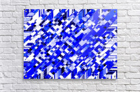 geometric square pixel pattern abstract background in blue  Acrylic Print