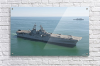 USS Wasp and USS San Antonio transit in formation in the Atlantic Ocean.  Acrylic Print
