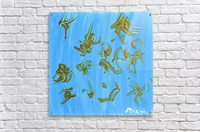 Gold and Blue. Marnie P  Acrylic Print