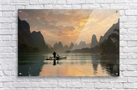 Golden Li River  Acrylic Print