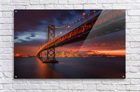 Fire over San Francisco  Acrylic Print