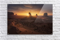 Monument Sunrise.  Acrylic Print