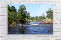 Lovers Rapids Lower French River  Acrylic Print