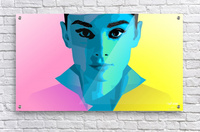 Pop Art Audrey Portrait  Acrylic Print