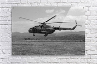 A Macedonian MI-17 helicopter landing as part of a medical transport flight.  Acrylic Print