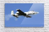 An A-10 Thunderbolt II pilot fires the planes 30-mm cannon.  Acrylic Print