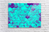 geometric square pattern abstract in blue  Acrylic Print