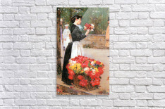 Flower girl by Hassam  Acrylic Print