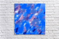 painting texture abstract background in blue pink  Acrylic Print