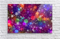 background, abstract, bokeh, lights, decoration, star, party, colorful, confetti,  Acrylic Print