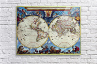 Antique map old map history globe earth maps historical map drawing old map of the world   Acrylic Print