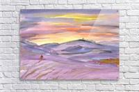 Sunset ski trip  Acrylic Print