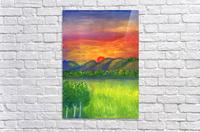 Mystical red sunset  Acrylic Print