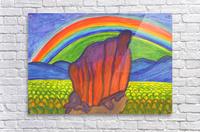 Mystical rock under the rainbow  Acrylic Print