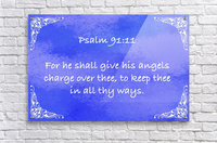 Psalm 91 11 5BL  Acrylic Print