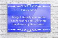 Psalm 37 4 3BL  Acrylic Print
