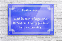 Psalm 46 1 2BL  Acrylic Print