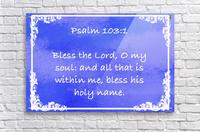 Psalm 103 1 9BL  Acrylic Print