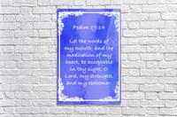 Psalm 19 14 8BL  Acrylic Print