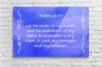 Psalm 19 14 4BL  Acrylic Print