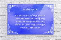 Psalm 19 14 5BL  Acrylic Print