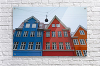 The red and blue house in Copenhagen  Acrylic Print