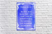 Psalm 46 10 8BL  Acrylic Print