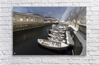 First snow in Copenhagen canal  Acrylic Print