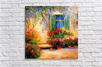 Blooming summer patio  Acrylic Print