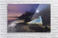 Old boat on Copenhagen shore at night   Acrylic Print