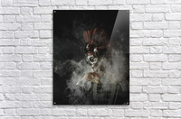 Young girl in the image of Santa Muerte  Acrylic Print
