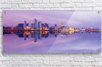 LIV 007 Liverpool Skyline   PANORAMIC  Acrylic Print