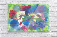 Watercolor abstraction with a blurred floral pattern  Acrylic Print