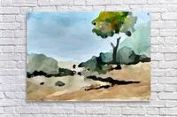 Tree sand water  Acrylic Print