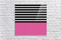 Black & White Stripes with Cranberry Patch  Acrylic Print