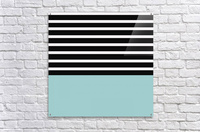 Black & White Stripes with Mist Patch  Acrylic Print