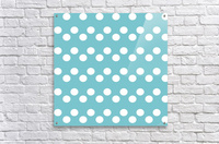 CADET BLUE Polka Dots  Acrylic Print