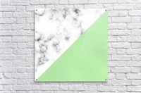 ABSTRACT MODERN GREEN GLASS MARBLE  Acrylic Print