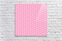 Carnation Pink Heart Shape Pattern  Acrylic Print