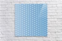 Blue Grey Heart Shape Pattern  Acrylic Print
