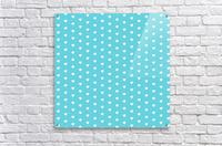 Sweet Light Blue Heart Shape Pattern  Acrylic Print