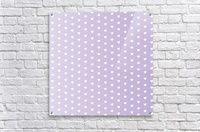 Spring Purple Heart Shape Pattern  Acrylic Print