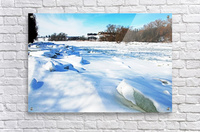 Frazil Ice On The Grand River West Montrose  Acrylic Print