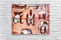 The men by Albin Egger-Lienz  Acrylic Print