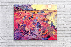 The red vines by Van Gogh  Acrylic Print