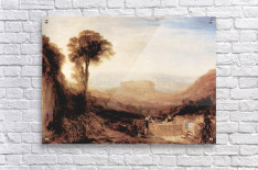 View of Orvieto, painted in Rome by Joseph Mallord Turner  Acrylic Print
