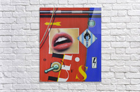Blue Red Mouth  Acrylic Print