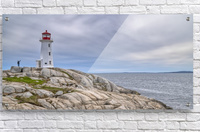 Alone at Peggys Cove.  Acrylic Print